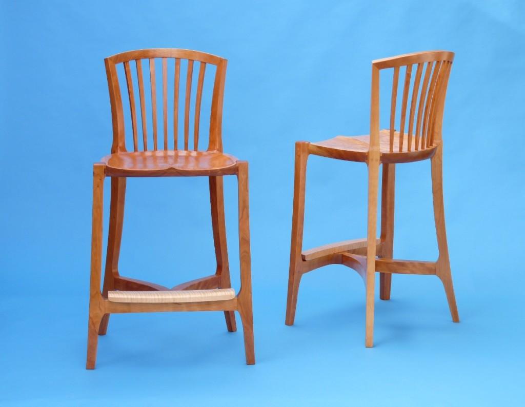 Fan bar stools cherry